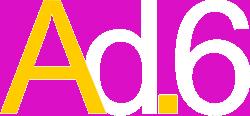 Logo Agência Ad.6 negativo